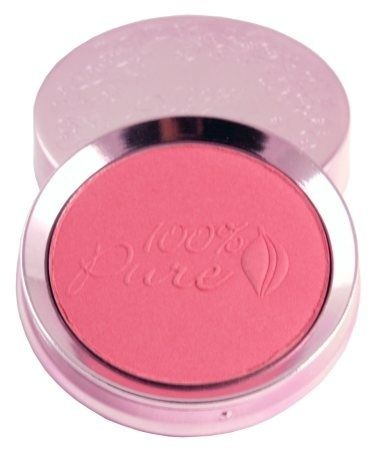 100% Pure Cosmetics Blush is vegan, fruit pigmented, and perfect for making you sparkle and shine! I love all of the shades, which range widely from coral to pink to soft mauve.