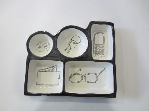 Svuotatasche portaoggetti in ceramica lavorata a mano