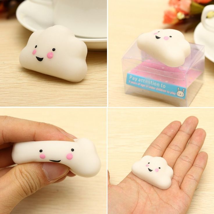 Mochi Cloud Squishy Squeeze Cute Healing Toy Kawaii Collection Stress Reliever Gift Decor