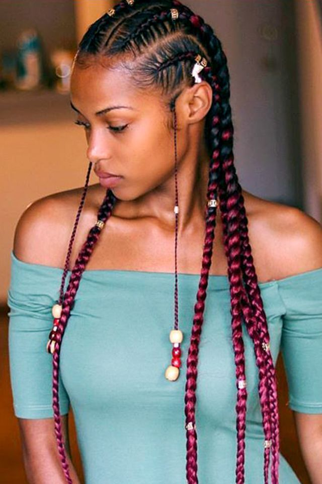 YouTube vlogger Kersti Pitre kills the braid game every time. Adding a few beads to her accent braids brought so much life to this straight-back style.
