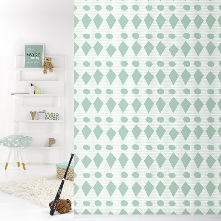 flags green behangpapier woonkamer slaapkamer interieur design ...