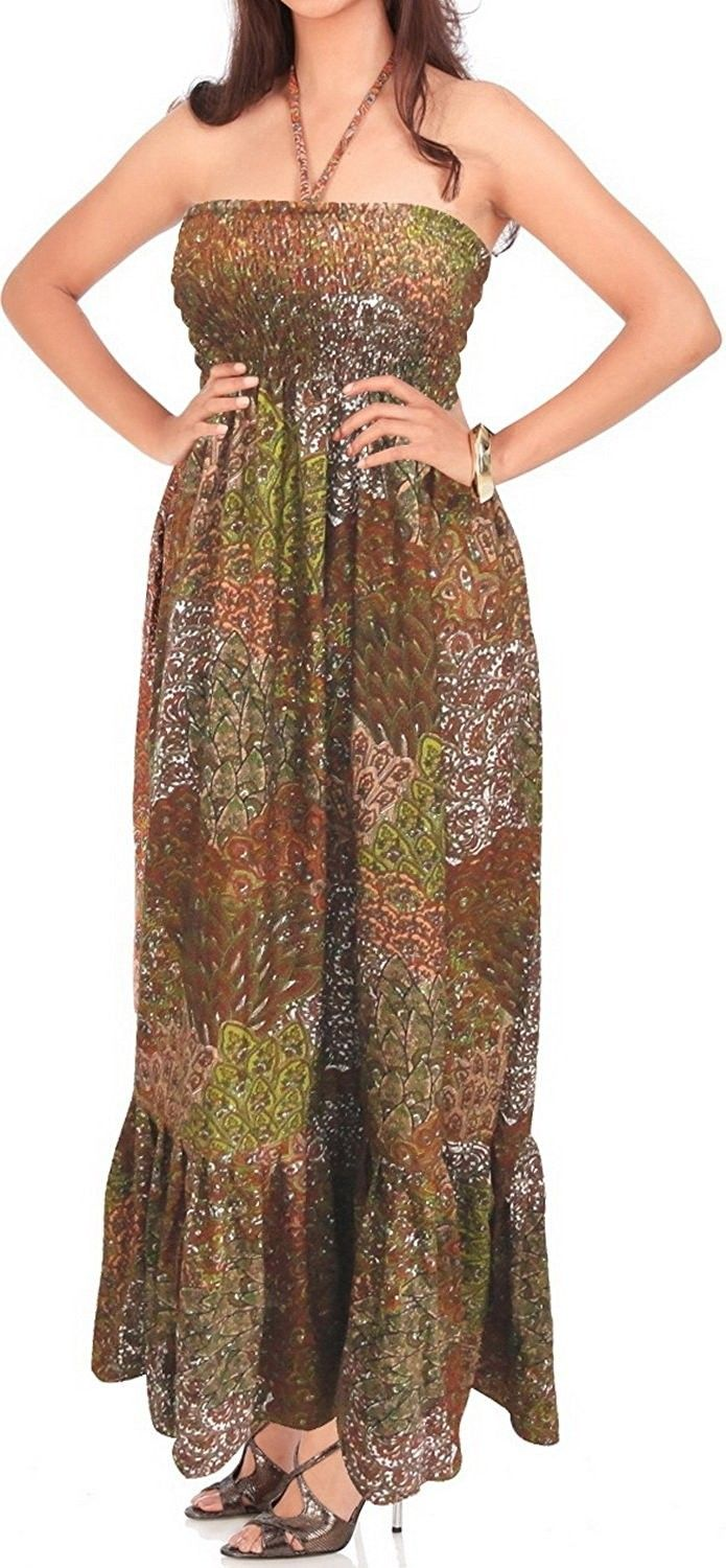 b5debd90ddb Beach Halter Tube Maxi Cover Up Swimsuit Swimwear Dress Skirt Boho ...