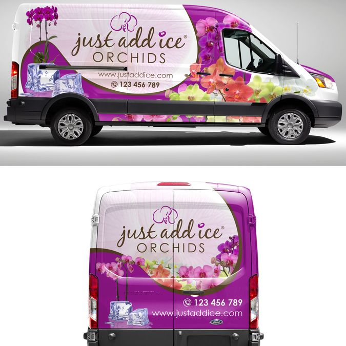 Create an eye-catching van wrap for our orchid delivery vans. by 0N73R99