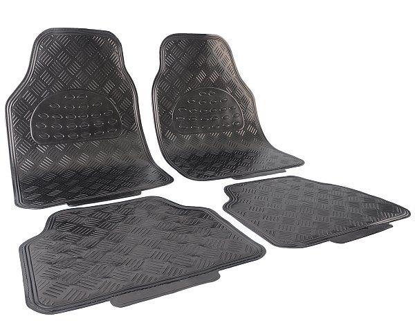 Universal Matten Auto Fußmatten Alu Look Chrom Optik Grau Matt AM7170gr | Woltu