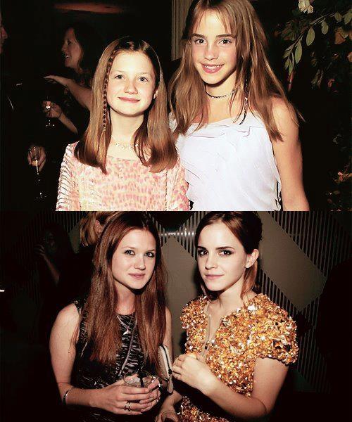 Bonnie Wright and Emma Watson | Harry Potter | Pinterest