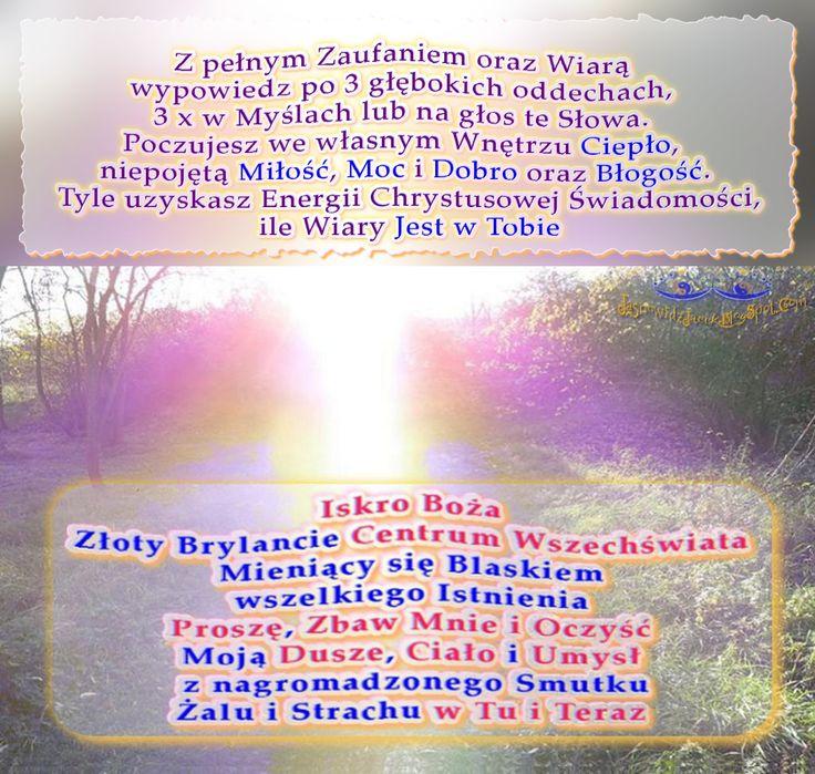 Iskro Boża Zbaw Mnie i Oczyść Moją Dusze Ciało i Umysł w Tu i Teraz   http://jasnowidzjacek.blogspot.com