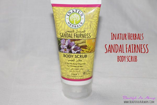 BAA | Beautiful As Always - Indian Makeup And Beauty Blog by Sayantani Ghosh Dastidar | Inatur Herbals Sandal Fairness Body Scrub Review | Is it Really worth a Try  | http://www.beautifulasalways.com