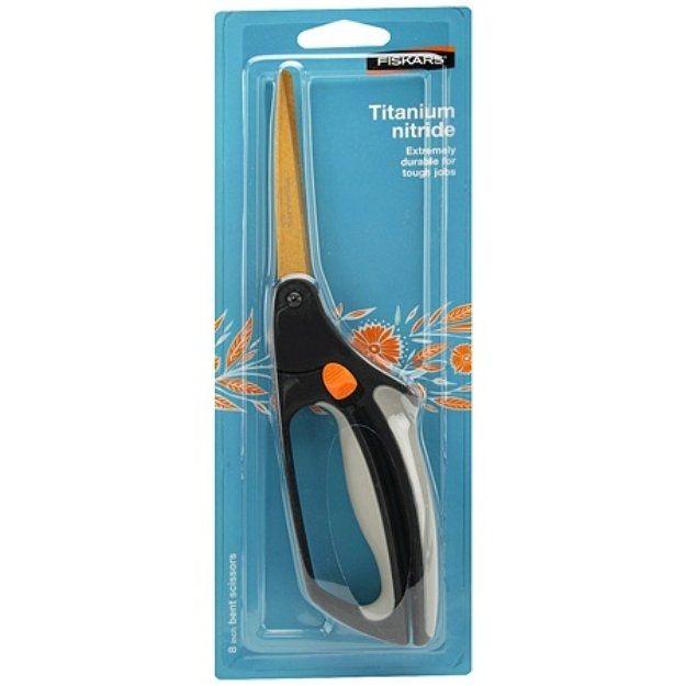 Fiskars Softouch Spring Action Titanium Nitride Scissors