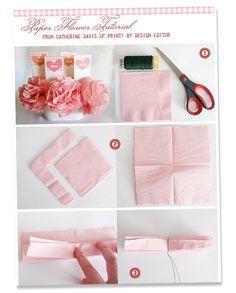invitation paper flowers - convite  flor de papel
