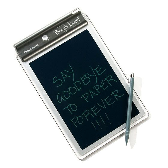 For the home: Boogie Board Writing Tablet $40, brookstone.com