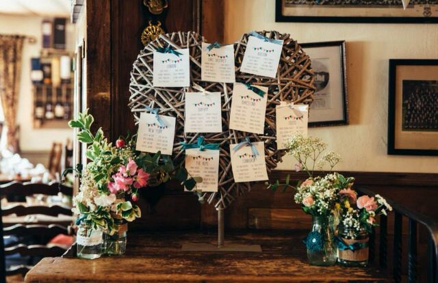 Table plan - wooden heart & favourite places
