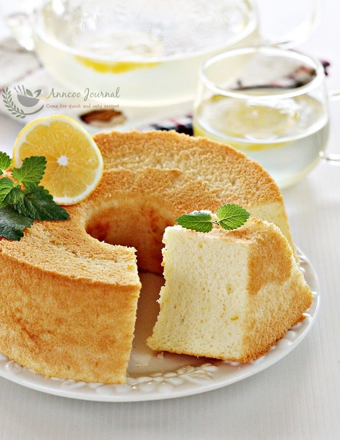 This quick and easy honey lemon chiffon cake is delicately soft chiffon cake wasn't too sweet but the combination of honey and lemon was just perfect.