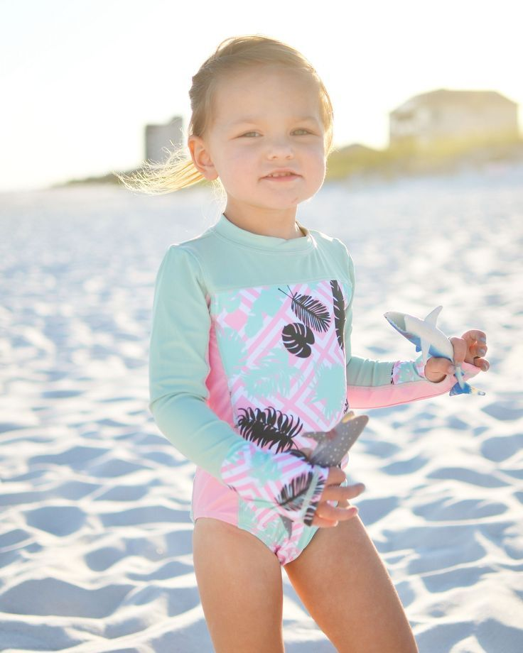 Toddler//Baby Girls Short Sleeve Round Neck Two Piece Swimsuit Little Girls Rash Guard Sun Protection Bathing Suit