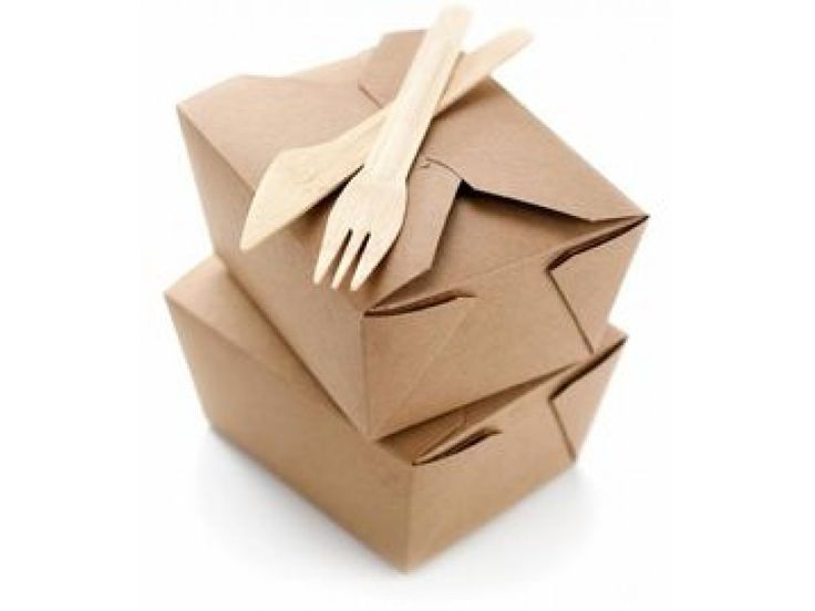 Brown Kraft Food Boxes-No.2  Easiest opening and closing mechanism on the market.