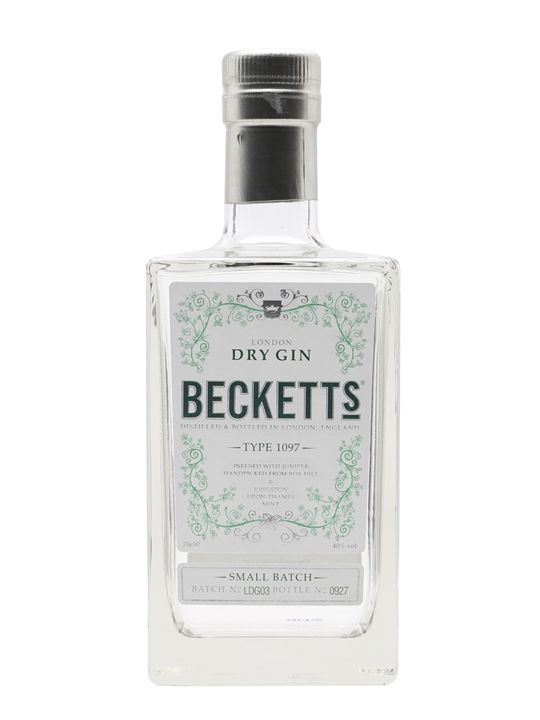 Beckett's London Dry Gin contains just six botanicals – juniper (from Box Hill in Surrey), mint (from Kingston-upon-Thames), lime, orris root, sweet orange peel and coriander. A zesty gin with a co...