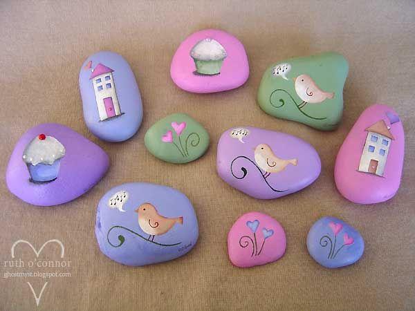 17 mejores ideas sobre piedras de jard n pintadas en - Piedras de rio pintadas ...