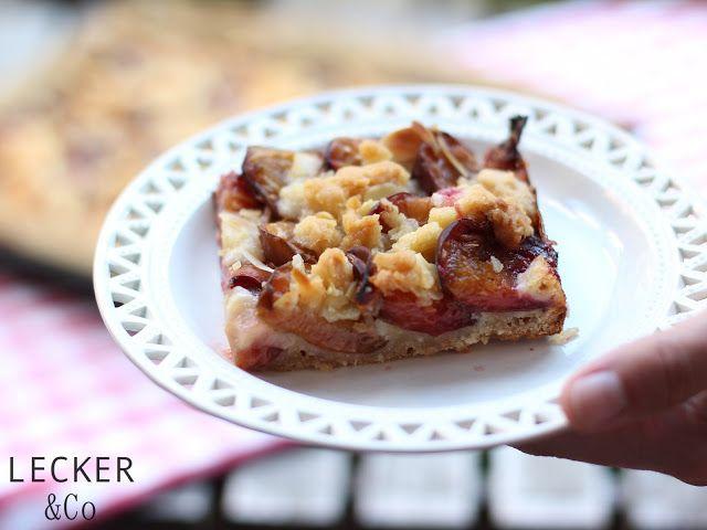 Inspirational Zwetschgen Kuchen mit Mandelstreuseln LECKER uCo Foodblog Foodfotografie und Foodstyling in N rnberg