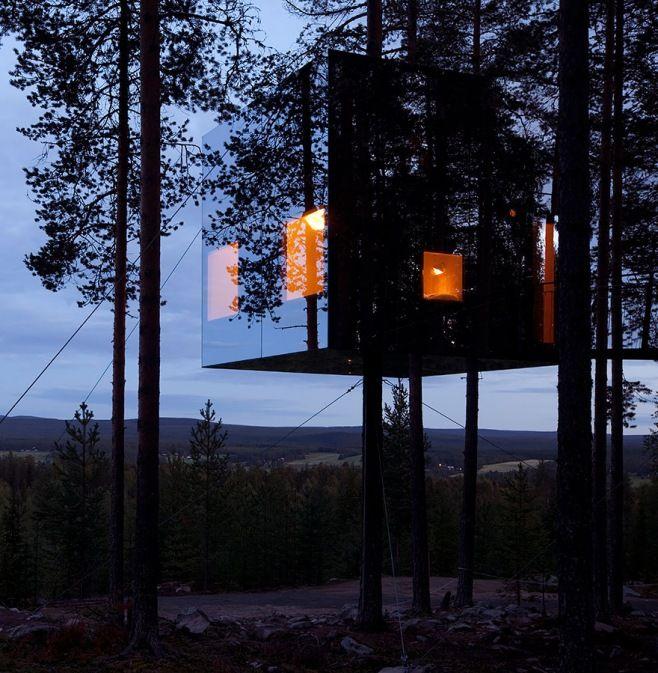 Dünyanın En İlginç ve Lüks 25 Oteli - Ağaç Evleri Oteli Mirrorcube, İsveç