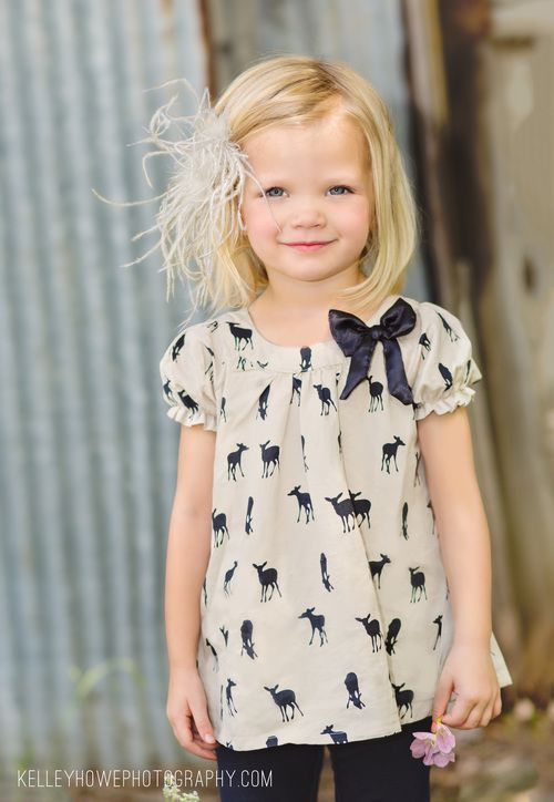 Cute little girls Deer Shirt, not to be confused with one my mom made. With love, of course.