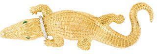 David Webb Diamond Collared Alligator Brooch