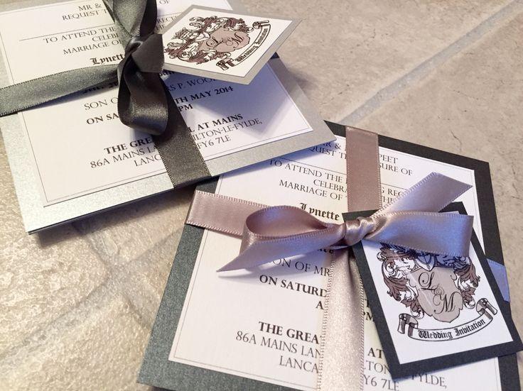Monochrome Coats of Arms Wedding Invitation Bundles