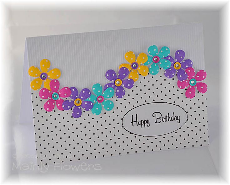Mainly Flowers Independent Stampin Up! Demonstrator Joanne Gelnar: Polka Dot Flower Wave