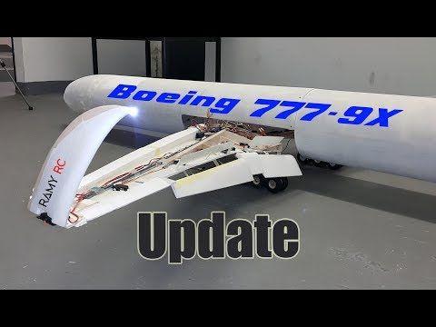 Boeing 777-9X RC Airliner Build update, Still preparing for