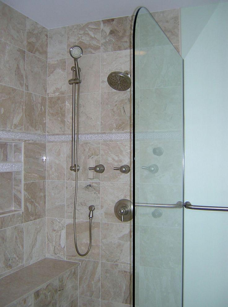 half shower door our bathroom remodels pinterest doors shower doors and showers. Black Bedroom Furniture Sets. Home Design Ideas