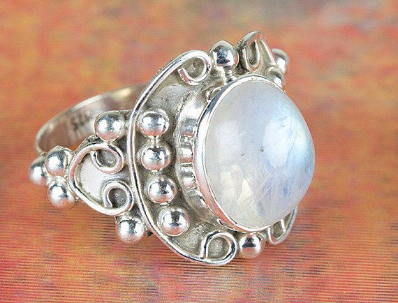 Rainbow Moonstone Ring Moonstone Ring Handmade Ring