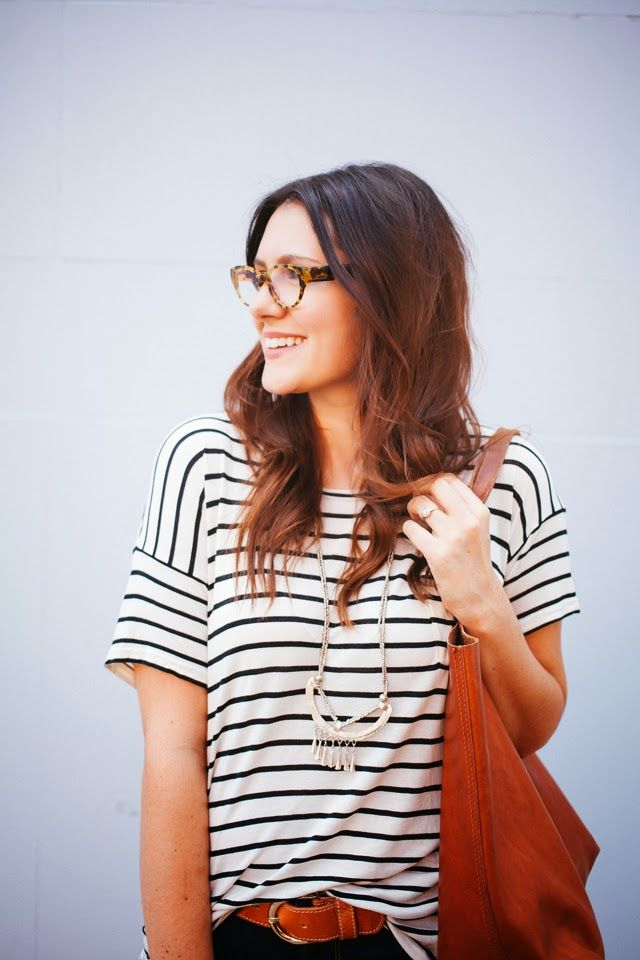 Striped shirt necklace