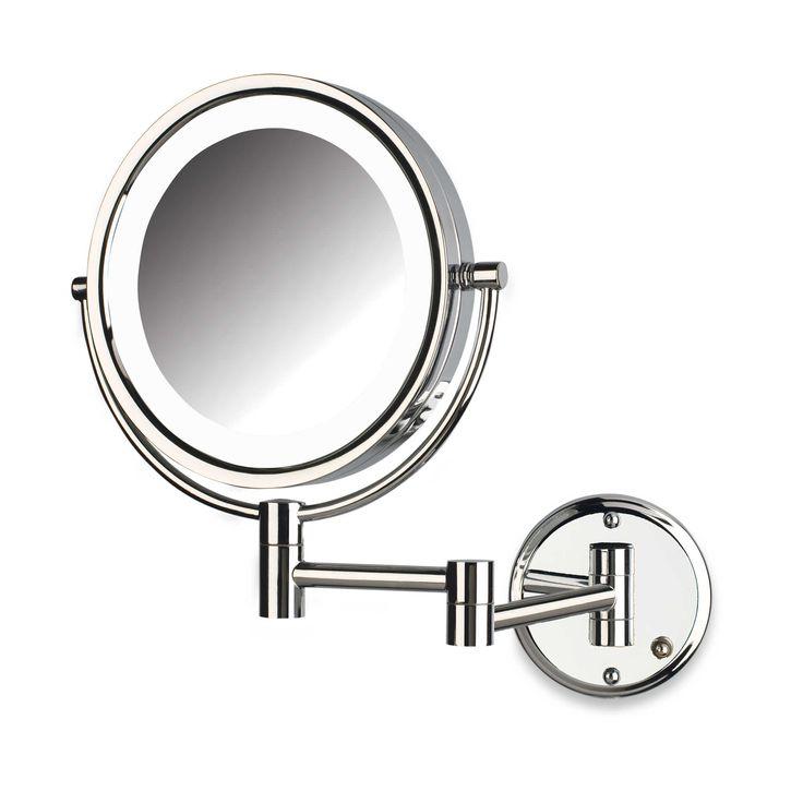 Wall Mounted Makeup Mirror - Chrome