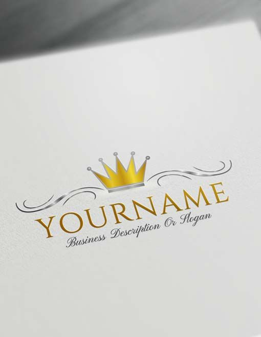 Ready-made Online Free Simple Crown Logo