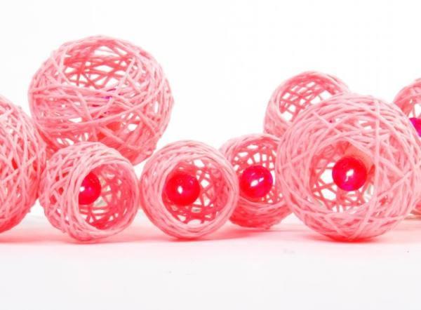 Pink String Ball Lights