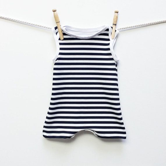 No way Jered would let Killian wear this, but it's cute!  Retro Striped Baby Swimsuit - Baby Boy Swimwear | Swimsuit One Piece