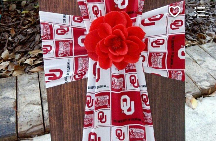 $40 100% Cotton mat. Stained Cedar Sports Cross Jamie's Crafts