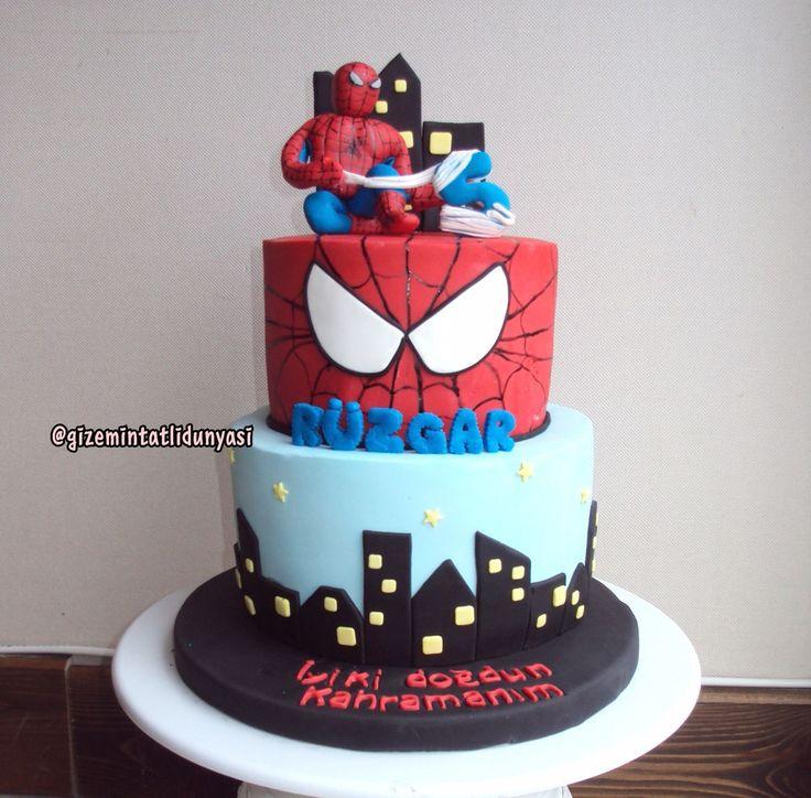 """146 Beğenme, 4 Yorum - Instagram'da Butik Pasta / Kurabiye🍪🍰 (@gizemintatlidunyasi): """"Rüzgar 5 Yaşında🐞#spiderman #spidermancake #spidermanpasta #marvel #marvelcake"""""""