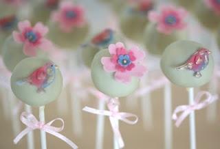 Beautiful cake pops: Cupcakes Pop, Blue Flowers, Flowers Cakepops, Big Company, Cakes Poppers, Beautiful Birds, Beautiful Cakes, Pastel Cakes, Pop Cakes