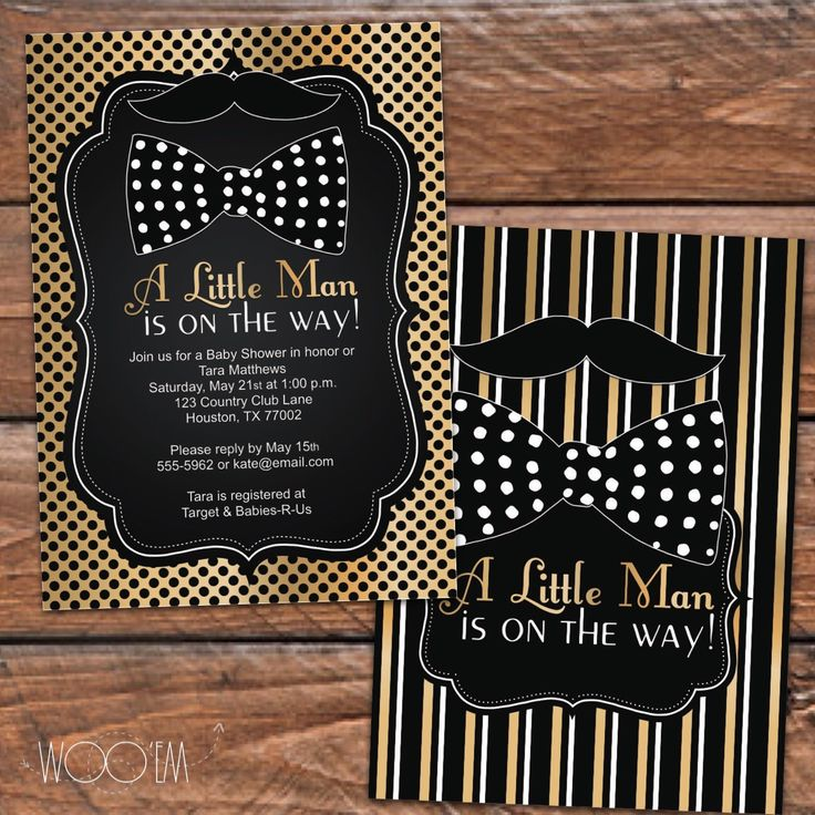 Little Man Baby Shower Invitation, Bowtie And Mustache Printable Baby  Shower Invitation, DIY Shower