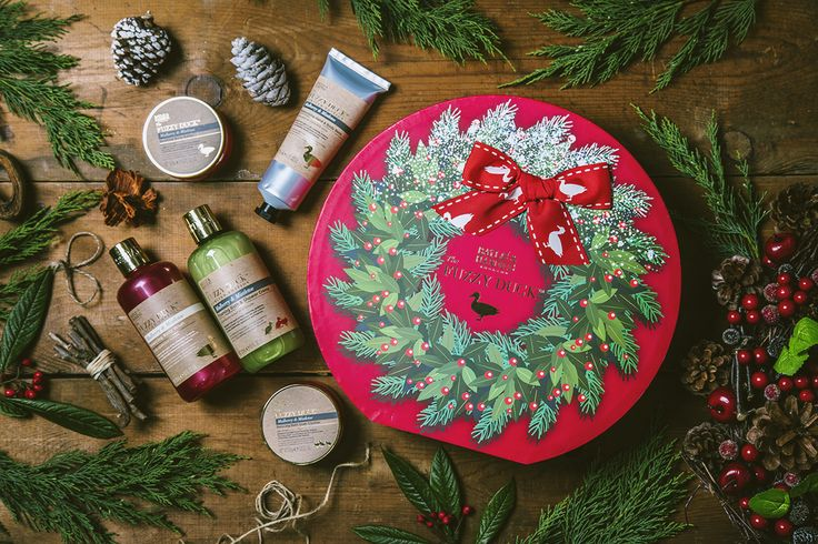 Save time on wrapping and buy a present that is simply too beautiful to wrap.  Introducing our Mulberry & Mistletoe Hat Box which contains: Body Wash, Bath & Shower Crème, Hand & Body Balm, Body Butter and Bath Soak Crystals!