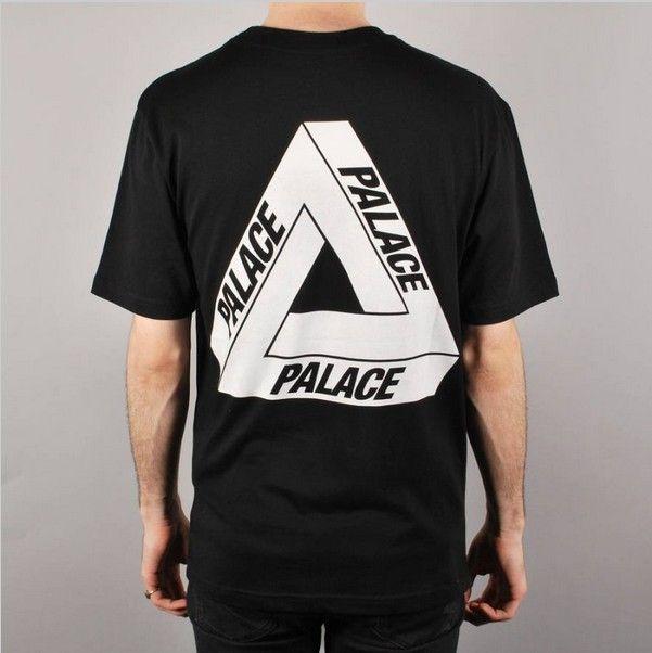 2016 Palace Skateboards Classic Triangle Print T-shirt Mens Basic Summer Noah Clothing Hip-hop Cotton Short Sleeve Tshirt Tee#palace skateboard
