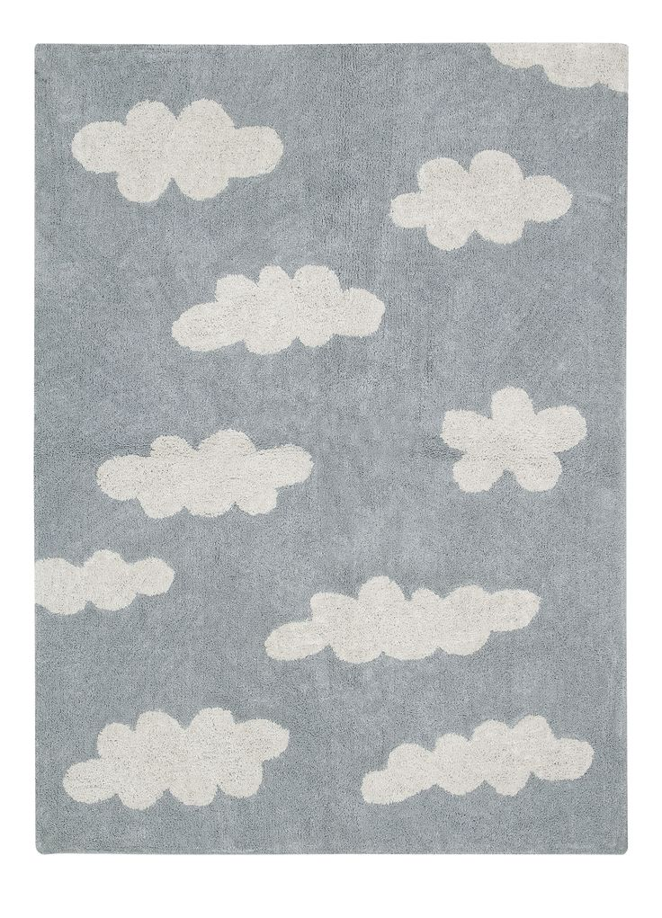 Washable Rug Clouds Grey - Alfombra Lavable Clouds Gris #washablerugs #lorenacanals #clouds #machinewashablerugs #kidsdecoration #rugsforkids