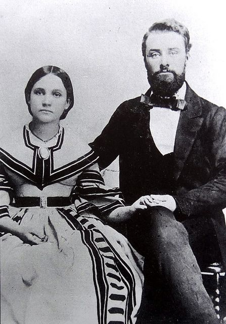 Elbert & Louisa Jemison, Wedding Picture, Talladega, Alabama  1860 census for Anderson County, Texas, has them at Tennessee Colony.  He was 25 and she was 18 in 1860.  No kids yet.  He'll go into the 1st Texas Infantry, shot through the lungs at Gaines Mill, shot through the hip and thigh at Sharpsburg, wounded slightly in left breast at Cold Harbor.  Resigned  August 19, 1864, and that's when we think they (she moved back to Talladega for the war) moved back to their property in Texas and…