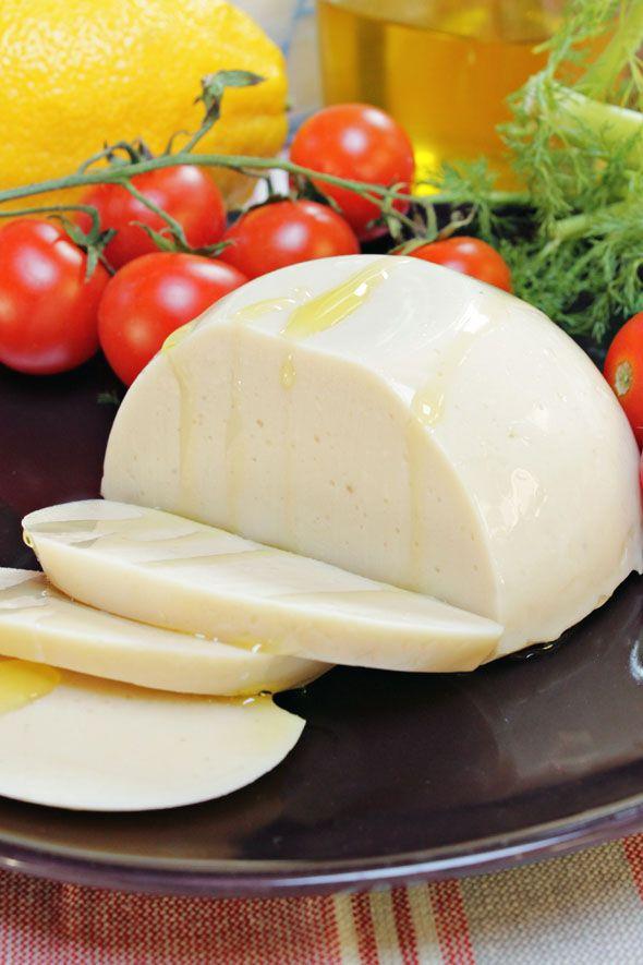 Formaggio vegetale di tofu, mozzarella vegana per pizza