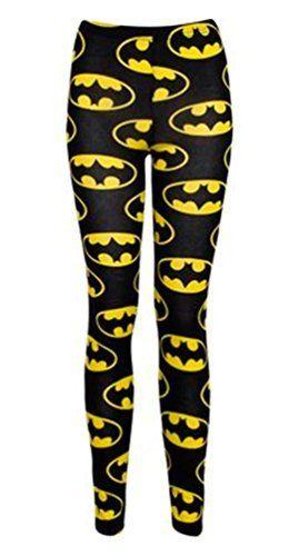 Ladies Celeb Batman Printed Full Length Leggings, SM 8-10