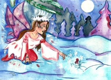 "Saatchi Art Artist Niina Niskanen; Painting, ""Winter Spell"" #art"