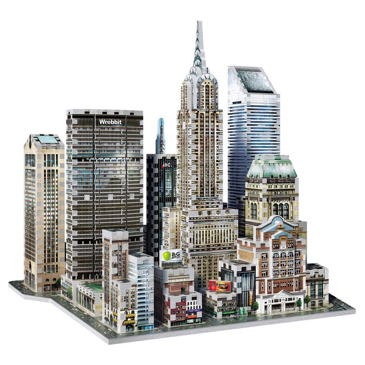 Wrebbit 3D - 2010 Midtown East New York 3D Puzzle 875pc