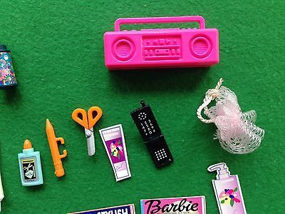 Barbie Accessory Lot FUN Magazines Compact Lunch Box Thermos Scissors