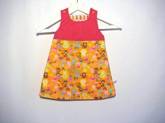 Handmade Reversible Baby Dress Spring Summer Dress Baby Girl