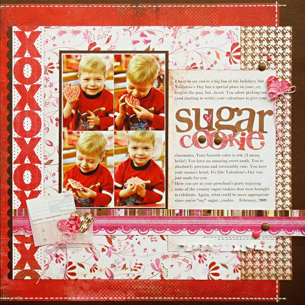 *Sugar Cookie* NEW BasicGrey KISSING BOOTH - Scrapbook.com: Scrapbook Ideas, Layout Ideas, Sugar Cookies, Valentines Scrapbook, Scrapbook Layout, Basic Grey, Kelly Gore, Scrapbook Pages, Kiss Booths