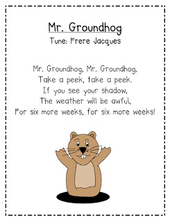 Mrs. Albanese's Kindergarten Class: Happy Groundhog Day!